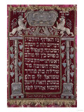 A Rare German Jewelled Parochet (Torah Ark Curtain), Dated 1764 Premium Giclee Print