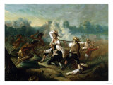 Massacre at Wyoming Valley Giclee Print by Eugène Boudin