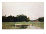 Two Dories, 1895 Giclee Print by Emilio Boggio