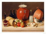 Still Life with a Bird and a Pitcher (Dining Room Scene) Giclee Print by Jose Agustin Arrieta