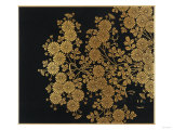 A Lacquer Box Decorated with Chrysanthemums, 20th Century Giclee Print by Okada Beisanjin