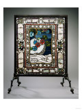 A Leaded Glass Fire Screen Giclee Print by Adler & Sullivan
