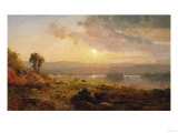 Autumn Sunset, 1876 Reproduction procédé giclée par Jasper Francis Cropsey