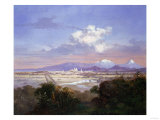The Valley of Mexico with Volcanoes, 1879 Giclee Print by Salvador Murillo