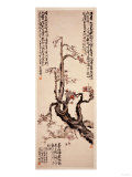Red Plum Blossoms, 1905 Giclee Print by Wu Changshuo