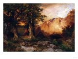 Western Sunset, 1897 Posters by Thomas Moran