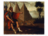 The Pyramids of Egypt, Cuzco School, 18th Century Giclee Print by Jose Agustin Arrieta