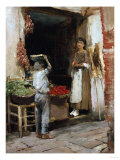 Venetian Fruit Shop Giclee Print by Theodore Robinson