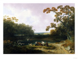 View in the Pennsylvania Countryside, 1823 Giclee Print by Joshua Shaw