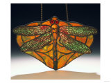 Leaded Glass Dragonfly Pendant Giclee Print by Adler &amp; Sullivan 