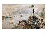 Le Bateau De Promenade Prints by Joseph Bail