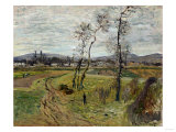Gennevilliers Plain, 1877 Prints by Edgar Degas