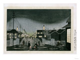 Night View, Nihonbashi, 1880 Giclee Print by Hashiguchi Goyo