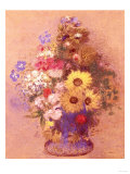 Vase of Flowers Giclee Print by Mary Cassatt