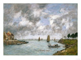 St. Valery on the Somme, 1891 Giclee Print by Eugène Boudin
