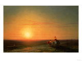 Peasants Returning from the Fields at Sunset Giclee Print by Carl Frederic Aagaard