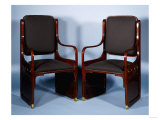 A Pair of Jacob & Josef Kohn Bentwood Arm Chairs, 1901 Giclee Print by Adler & Sullivan