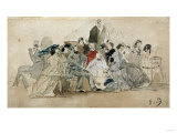 Afternoon on the Beach, Apres-Midi Sur La Plage, Circa 1865 Giclee Print by David Gilmour Blythe