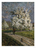 The Big Peartree in Flower, Le Grand Poirier En Fleurs, 1912 Giclee Print by Emilio Boggio