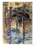 Venetian Scene Art by Jean-Baptiste-Camille Corot