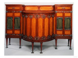 A Mahogany and Satinwood Buffet by Morris &amp; Company, Circa 1899 Giclee Print by Adler &amp; Sullivan 