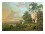 A View from the Terrace, Richmond Hill Premium Giclee Print by Carl Frederic Aagaard