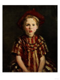 Little Girl in Red Stripes, 1910 Premium Giclee Print by Robert Henri