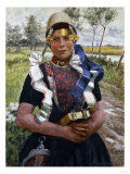 Marken Peasant Girl Giclee Print by George Hitchcock
