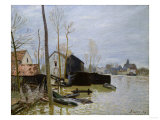 The Floods at Moret, Les Inondations a Moret, 1889 Premium Giclee Print by Eugène Boudin