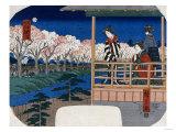 Cherry Blossoms on the Bank at Shinjuku, Yotsuya, 1856 Posters by Ioki Bunsai
