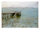Long Island Pier Print by William Merritt Chase