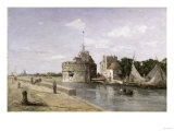The Tower of Francis I at Le Havre, 1854 Giclee Print by Eugène Boudin