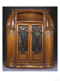 Aux Algues', a Carved Mahogany, Cameo Glass and Wrought-Iron Cabinet, Circa 1906 Print by Franz Arthur Bischoff