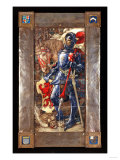 A Tile Panel of St. George and the Dragon in Colours Highlighted in Enamel, 1911 Giclee Print by Adler &amp; Sullivan 