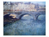 Bridge Over the Seine, Pont De Seine, Paris Giclee Print by Eugène Boudin