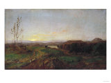 Early Evening Landscape Posters by Eugène Boudin