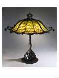 A Rare 'Octopus' Leaded Glass and Bronze Table Lamp Giclee Print by Guiseppe Barovier