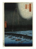 Fireworks at Ryogoku', from the Series, 'One Hundred Famous Views of Edo' Giclee Print by Hashiguchi Goyo