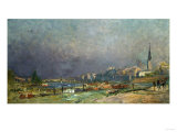 On the Banks of the River Giclee Print by Eug&#232;ne Boudin