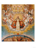 The Celestial Court, Anonymous, Cuzco School, 18th Century Giclee Print by Jose Agustin Arrieta