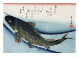 Carp', from the Series 'Collection of Fish' Lámina giclée por Ando Hiroshige