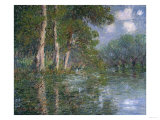 Bend in the Eure, St. Cyr De Vaudreuil, 1919 Giclee Print by Eugène Boudin