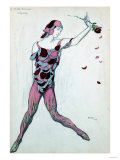 Le Spectre De La Rose, Design for Njinksky's Costume, 1911 Prints by Leon Bakst
