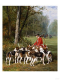 Unleashing the Hounds Giclee Print by Giovanni Battista Benvenuti