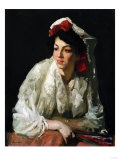 Spanish Mantilla, 1907 Posters by George Wesley Bellows