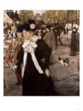 Boulevard Des Italiens, Paris Giclee Print by Mary Cassatt