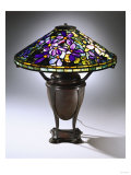 A Fine 'Wistaria' Leaded Glass and Bronze Table Lamp Giclee Print by Guiseppe Barovier