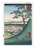 Original Fuji, Meguro', from the Series 'One Hundred Views of Famous Places in Edo' Giclee Print by Ando Hiroshige