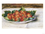 Still Life with Strawberries, Painted Circa 1880 Giclee Print by Edgar Degas