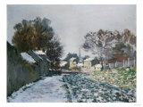 Snow at Argenteuil, 1874 Prints by Eugène Boudin